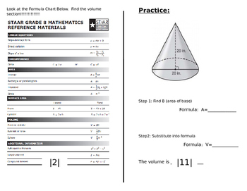 8th Grade Volume Book: Cylinders, Cones & Speres