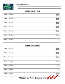 8th Grade Wellness Plan