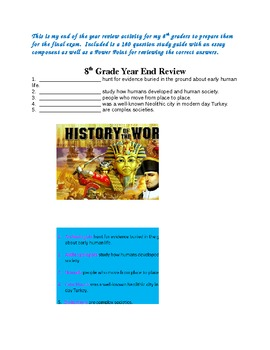 8th Grade World History Year End Review