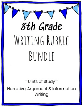 8th Grade Writing Rubric Bundle
