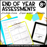 8th Grade Math Year-End Assessments:  CCSS