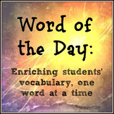 Word of the Day: A Year-Long Middle School Vocabulary Curriculum