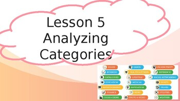 8th Grade - iReady Lesson 5:  Analyzing Categories (Informational)