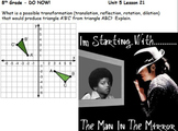 8th Grade math mini-lessons aligned with Khan Academy skills for an entire year!