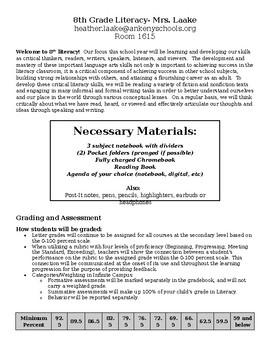 8th Literacy Syllabus