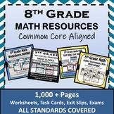 ⭐8th Grade Math Curriculum Resources Bundle⭐