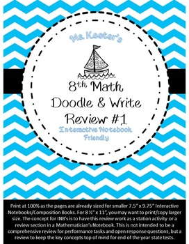 8th Math Doodle Write Review #1
