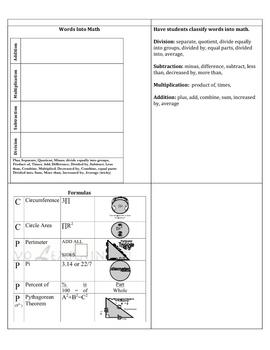 8th Math Flip Book-Assessment Preparation
