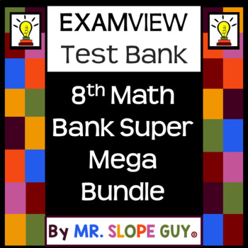 8th Math Pre-Algebra Question Bank Mega Bundle for ExamView