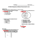 8th Math Pythagorean and Rational Numbers Quiz Pre-AP (editable)