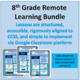 8th Math Remote Distance Learning Bundle: 24 Lessons & Growing!