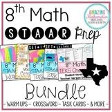 8th Math STAAR Review & Prep Bundle