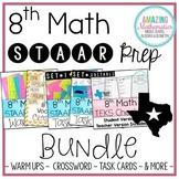 8th Math STAAR Review & Prep Bundle