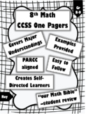 8th Math Standard Keep Sheets for the WHOLE YEAR! (Full Bundle)