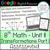 8th Math Unit 11 Google Quiz - Translations, Rotations, & Reflections