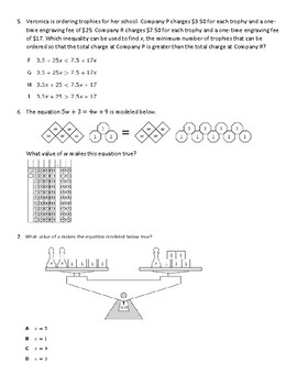 8th STAAR Writing & Solving Equations Review