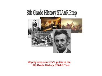 8th Social Studies STAAR Study Guide (20 Page Printable Study Packet)