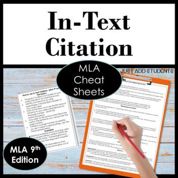 MLA Citation, MLA 8th edition, In-text Citation ♦ Parenthe