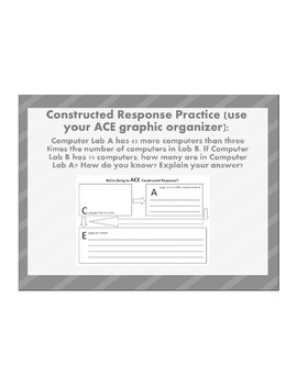 8th grade Common Core Math Constructed Response Questions and Graphic Organizer