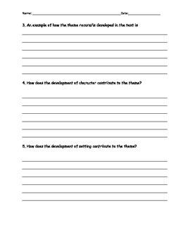 8th grade ELA Common Core Assessments for any novel