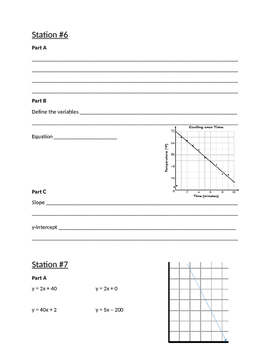 8th grade ISTEP Applied Review Stations Recording Sheet