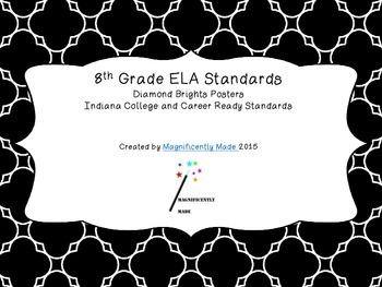 8th grade Indiana ELA standards posters diamonds