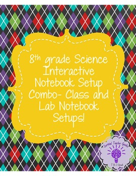 8th grade Interactive Notebook Setup Combo- Class and Lab