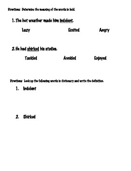 8th grade Main Idea, Inference & Context Clues