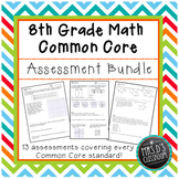 8th grade Math Common Core Assessment {Bundle}
