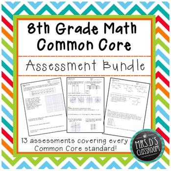 8th grade Math Common Core Assessment {Bundle}