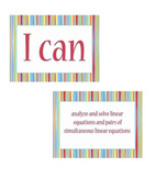 "8th grade ""I Can Statements"" Math Standard Posters"