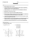 8th grade Math PSSA (PA Core) - Functions