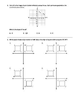 8th grade Math PSSA (PA Core) - Geometry