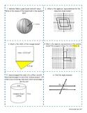8th grade Math STAAR Review Bingo