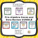 8th grade Pre-Algebra and Geometry Common Core Boxes and Dots Review