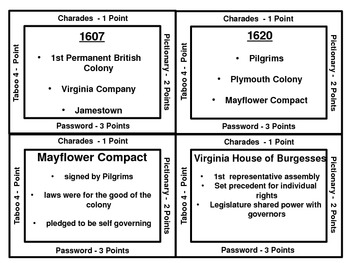 8th grade US History STAAR Review game - set 1 by Elizabeth Talley ...
