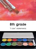 "8th grade: Visual Art- ""I Can"" Statements"