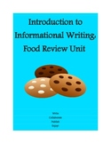 8th grade introduction to writing: food reviews