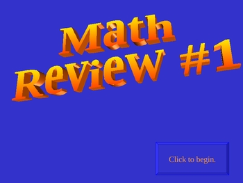 8th grade math (Algebra) game review
