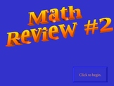 8th grade math (Algebra)  game review #2