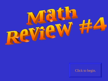 8th grade math (Algebra )  review game #4