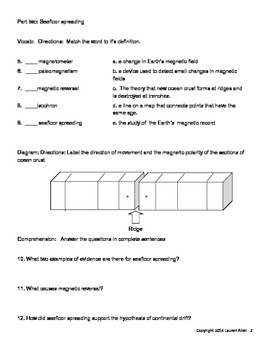 8th grade plate tectonics test-  at and above grade level test