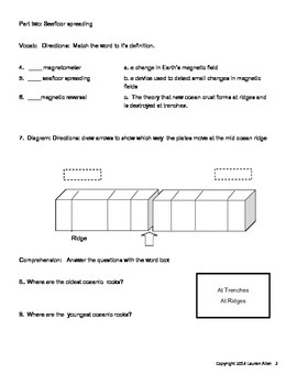 8th grade plate tectonics test- basic readers or special needs level test