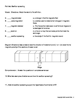 8th grade plate tectonics test- low and below level test