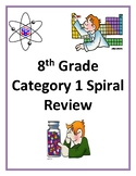8th grade science STAAR Spiral Review Category 1