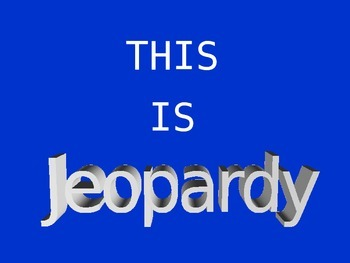 8th grade science STAAR review jeopardy