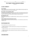 8th grade science class syllabus with curriculum pacing guide- Indiana standards