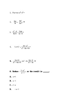 8th grade test prep worksheets 1, with answer keys