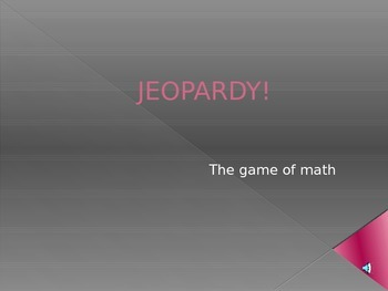 8th math STAAR Jeopardy Review