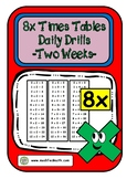 8x Times Table Daily Drills